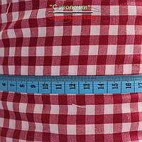 Рубашечная ткань клетка красно-белая 6 мм