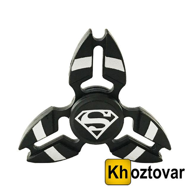 """Алюминиевый спиннер """"Супермен"""" Fidget Spinner Superman Black    Вертушка с подшипником   Хендспиннер"""
