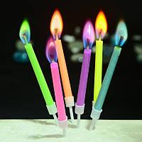 Свечи маленькие (в торт) с цветным огнем