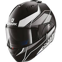 Мотошлем SHARK Evo-One Krono черный серый белый мат S