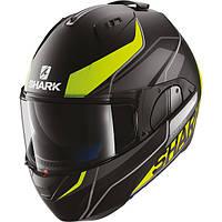 Мотошлем SHARK Evo-One Krono черный серый желтый мат M
