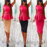Платье женское сукня баска 42 44 46 48 50 Р, фото 1