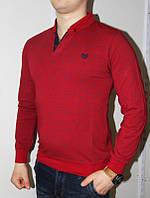 Красный (Турция) Реглан с воротником со значком