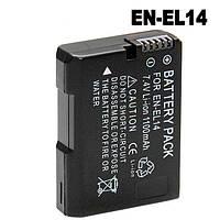 Аккумулятор для камер NIKON D3100, D3200, D3300, D5100, D5200, D5300, D5500 - EN-EL14 (EN-EL14a)  - 1100 ma