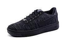 Кроссовки черные Найк Air Force, мужские, текстиль, р. 41 42 43 44