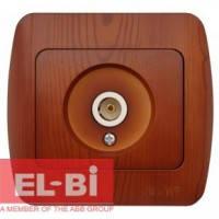 Розетка TV конечная вишня EL-BI Zirve Woodline 501-000601-273