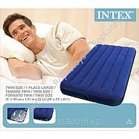 Надувной матрас велюр Intex 99-191-22 см (ОПТОМ) 68757