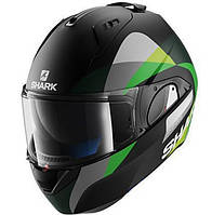 Мотошлем SHARK Evo-One Priya черный серый зеленый мат L
