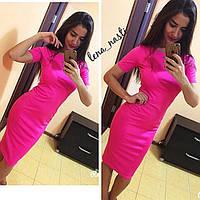 Платье футляр 1 метр мини рукав  42 44 46 48 50 Р, фото 1