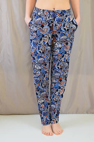 Трендовые летние женские брюки с турецким принтом, фото 2