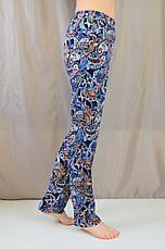 Трендовые летние женские брюки с турецким принтом, фото 3
