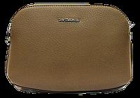 Маленькая аккуратная женская сумочка DAVID DJONES желтовато-коричневого цвета QQK-042300, фото 1