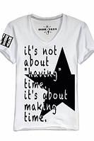 """Мужская футболка с V-образным воротом OPIUM-""""TIME"""""""