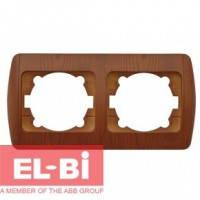 Рамка 2 поста вишня EL-BI Zirve Woodline 501-000601-226