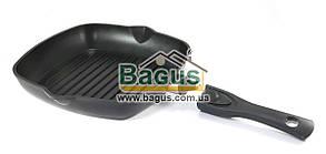 Сковорода-гриль 26х26см антипригарная квадратная с быстросъемной ручкой Биол (2614П)