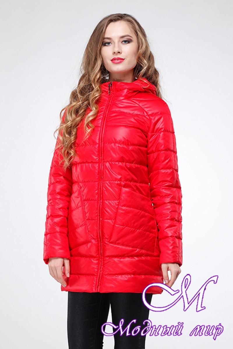 Женская осенняя куртка большого размера (р. 42-54) арт. Адамина