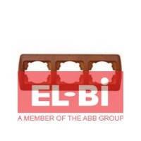 Рамка 3 поста вишня EL-BI Zirve Woodline 501-000601-227