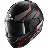 Мотошлем SHARK Evo-One Krono черный серый красный мат L
