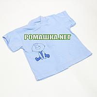 Детская кофточка р. 74 с коротким рукавом ткань КУЛИР 100% тонкий хлопок ТМ Алекс 3174 Голубой А