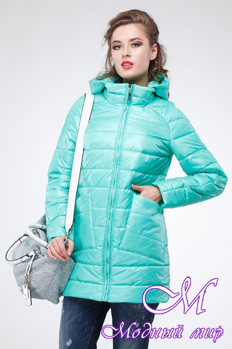 Женская демисезонная куртка большого размера (р. 42-54) арт. Адамина