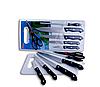 Набор ножей Knife Set (найф Сет) с ножеточкой и доской в подарок (7 предметов)