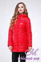 Женская красная осенняя куртка (р. 42-54) арт. Адамина