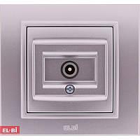 Розетка спутниковая (SAT) EL-Bi Zena Silverline металлик, F-разъем (механизм)