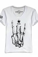 """Мужская футболка с V-образным воротом OPIUM-""""ROCK EVERYWHERE"""""""