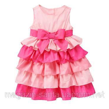 Сукня дівчинці ошатне святкове пишне рожево-малиновий з рюшами Gymboree