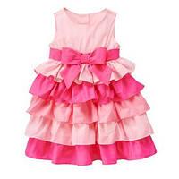 Платье нарядное девочке праздничное пышное розово-малиновое с рюшами Gymboree