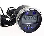 Автомобильные часы, термометр, вольтметр VST-7042V, фото 7