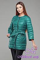 Женская бирюзовая осенняя куртка-плащ батал (р. 42-54) арт. Белла