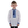 Детская вышивка крестом с голубым орнаментом, фото 3