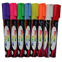Купить оптом Флуоресцентные маркеры для светодиодной доски жидкий мел 8 цветов 6мм