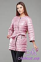 Женская осенняя розовая  куртка-плащ батал (р. 42-54) арт. Белла