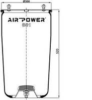 Усилители пружин Air Power Усиленные пневмоподушки пневмобалоны Иран (881)