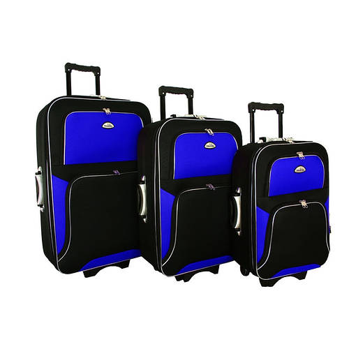 Комплект чемоданов Travel Y73 (Черно-синий)
