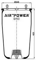 Усилители пружин Air Power Усиленные пневмоподушки пневмобалоны Иран (940)