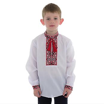 Вышивка крестом для мальчика с красным орнаментом