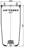 Усилители пружин Air Power Усиленные пневмоподушки пневмобалоны Иран (941)
