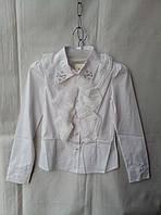 Блузка школьная детская для девочки 10-14 лет,белая