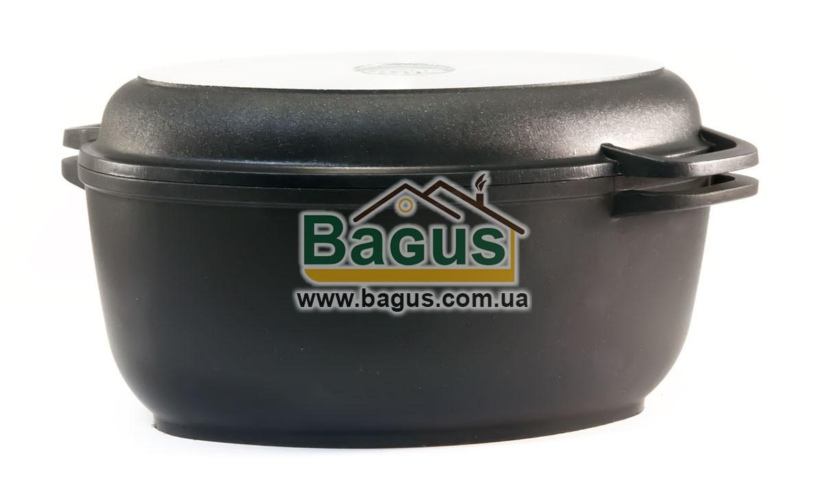 Гусятниця 2,5 л з антипригарним покриттям, з кришкою-сковорідкою, потовщеним дном Біол (Г301П)