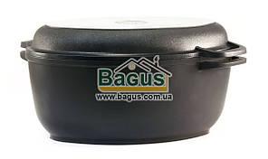 Гусятница 2,5л с антипригарным покрытием, крышкой-сковородкой, утолщенным дном Биол (Г301П)