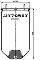 Усилители пружин Air Power Усиленные пневмоподушки пневмобалоны Иран (4022)