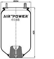Усилители пружин Air Power Усиленные пневмоподушки пневмобалоны Иран (4156)