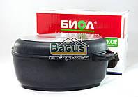 Гусятница 4л с антипригарным покрытием, крышкой сковородкой гриль, утолщенным дном Биол (Г401П)