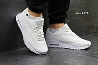 Мужские кроссовки Nike Air Max 1 Ultra Moire, белые / кроссовки мужские Найк Аир Макс 1 Ультра Моир, удобные