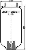 Усилители пружин Air Power Усиленные пневмоподушки пневмобалоны Иран (4159)