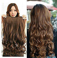 Волосы на заколках затылочная прядь волна длина 55см №2/30
