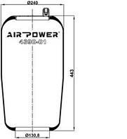 Усилители пружин Air Power Усиленные пневмоподушки пневмобалоны Иран (4390)